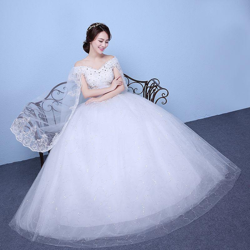 f937b474d20e New 2018 Plus Size Boat Neck Short Sleeves Wedding Dresses Cheap Red White  Bride Frock Custom Made Vestidos De Novia China Wedding Dress Ivory Wedding  Gowns ...