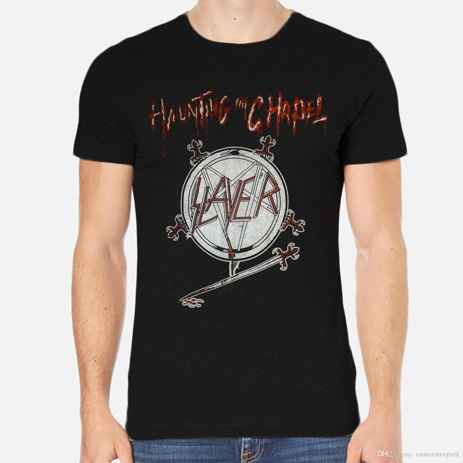ce09fb86738 Slayer Haunting The Support Dropship New Men T Shirt Black Clothing 1 A 106 Tees  Shirt Men Male Cool Short Sleeve Fashion Custom Big Size T Shirt Funny ...