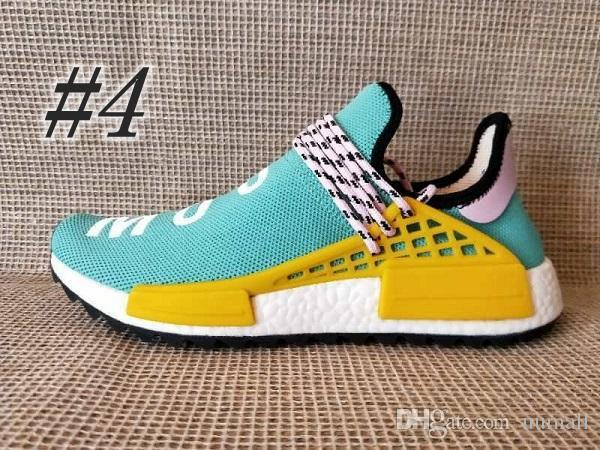 fcbcd7cce 2019 HOT Human Race R1 XR1 Pharrell Williams Hu Trail NERD Cheap Men Womens  Athletic Shoes Top Quality Yellow Blue Sports Shoes Size 36-47 Human Race  R1 XR1 ...