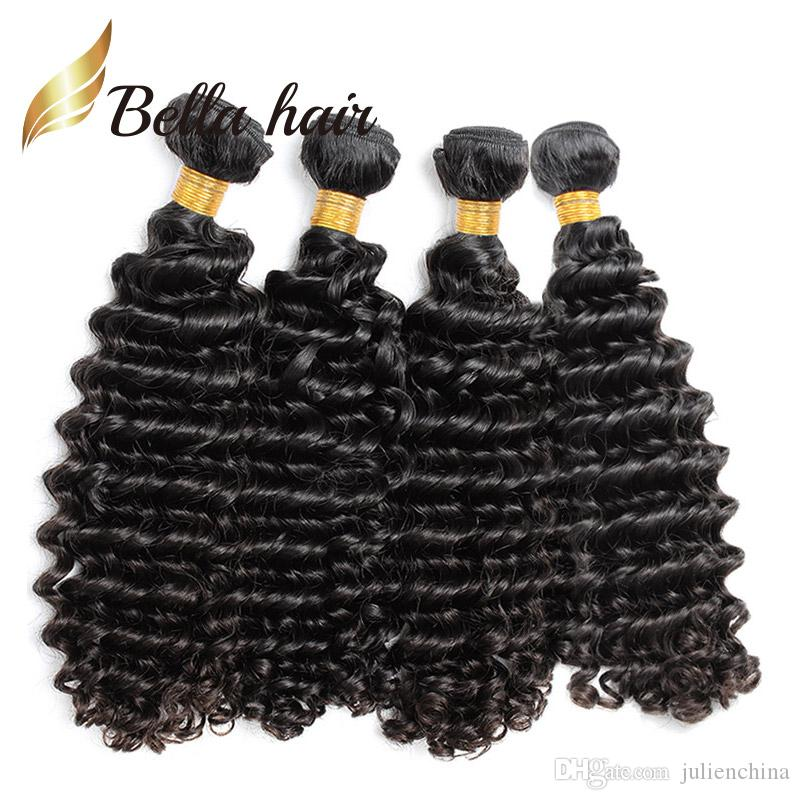 Brand Original Hair! 10-24inch Brazilian Human Hair Deep Wave Unprocessed Brazilian Original Hair Extension BellaHair