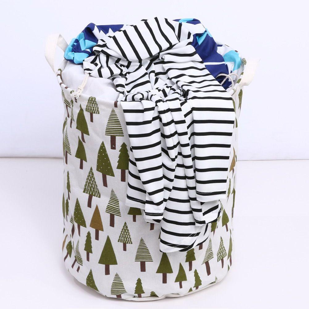 Large Folding Laundry Basket Dirty Clothes Storage Basket For Toy Necktie Socks Creative Fabric Washing Organizer Clothes Box