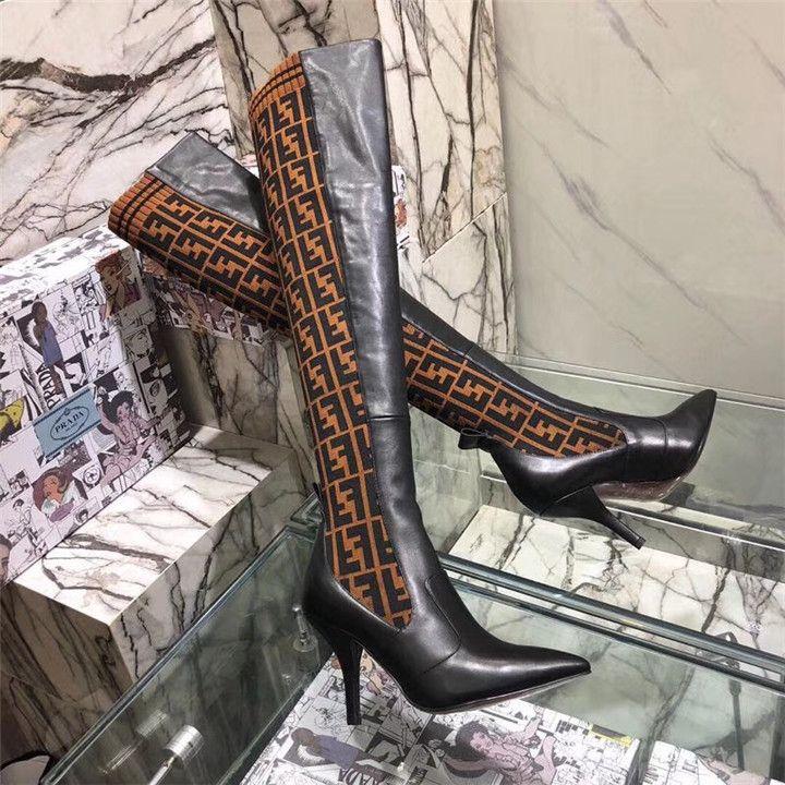 30457032c8 Compre AAAAA + Cordero De Cuero Negro Rockoko Botas Hasta El Muslo Botas De  Invierno De Marca De Lujo Para Mujer Botín Zapatos Australia Botas De Nieve  ...