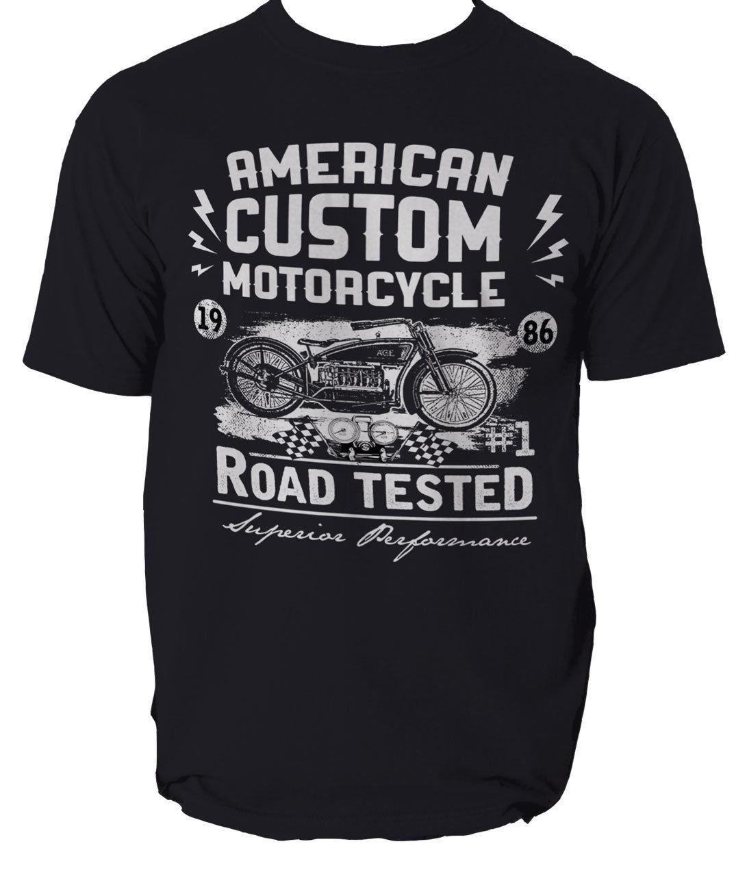 1b6ba7b23 AMERICAN CUSTOM MOTORCYCLE T Shirt BIKE BIKER RIDE Mens T Shirt Tee S 3XL  2018 Hot Tees Custom Printed Tshirt Cheap Tee Trendy Mens T Shirts T Shirt  Best ...