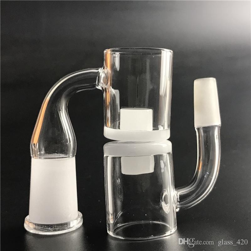 Novo 25mm quartz core reator banger 10mm 14mm 18mm quartzo gavel banger prego com fundo grosso opaco para bongo de vidro