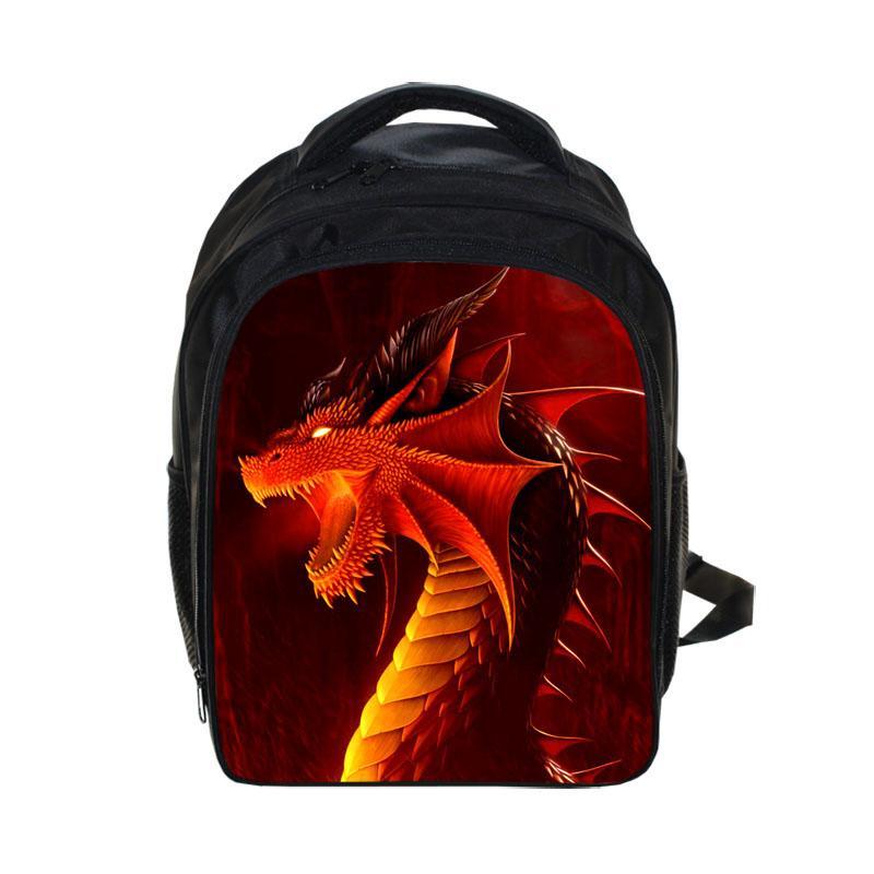 39ebafdd27e Cool Dinosaur Backpack Magic Dragon Students School Bags Boys Girls ...