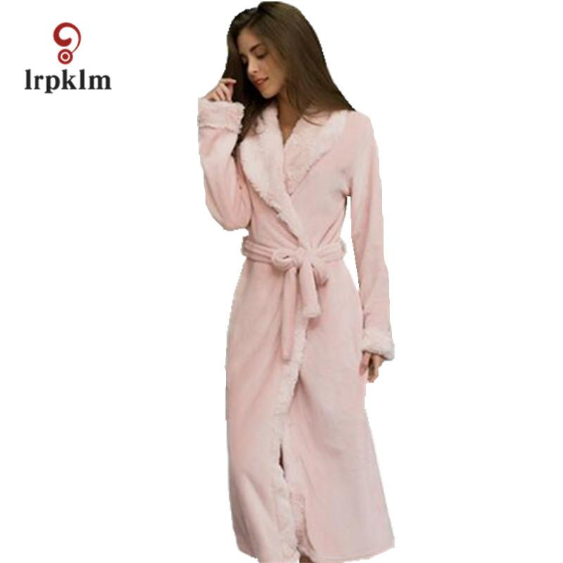 65fb2d22a80b 2019 Winter Mink Flannel Sexy Women S Sleep   Lounge Female Robes Loose  Sleep Robes For Women Pajama Coral Fleeces Bathrobe SY358 From Zhusa