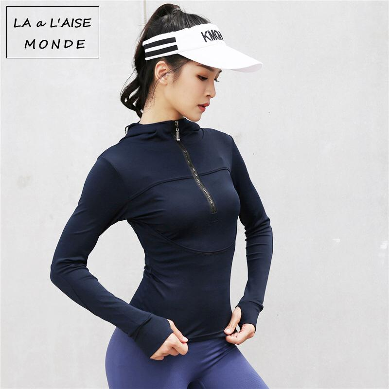 15e9eca2c8d 2019 Womens Activewear Sport Workout Tops For Fitness Women Gym Sweatshirt  Yoga Top Hoodies Sports Wear Long Sleeve Sportswear From Enhengha