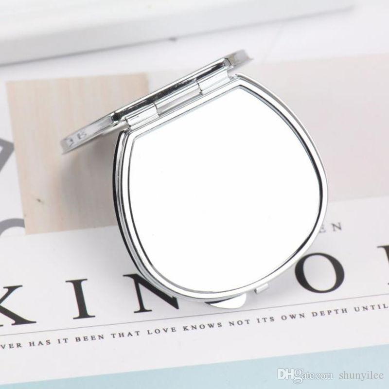Spiegel Kreativ Frauen 2018 Kristall Mini Schönheit Tasche Spiegel Tragbare Kompakte Runde Klapp Spiegel