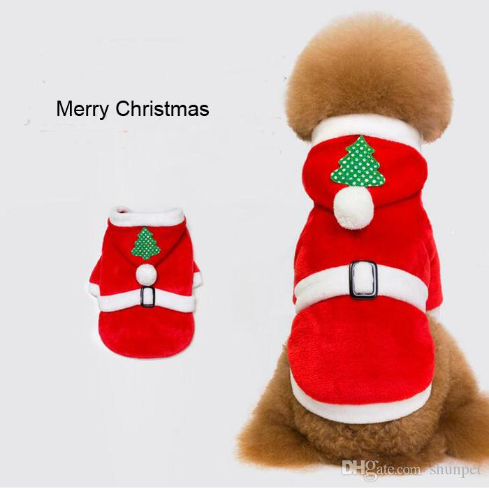 2018 merry christmas dog clothes santa costume pet dog cat clothes chihuahua coat clothing cute pet christmas outfit for small dog cat from shunpet