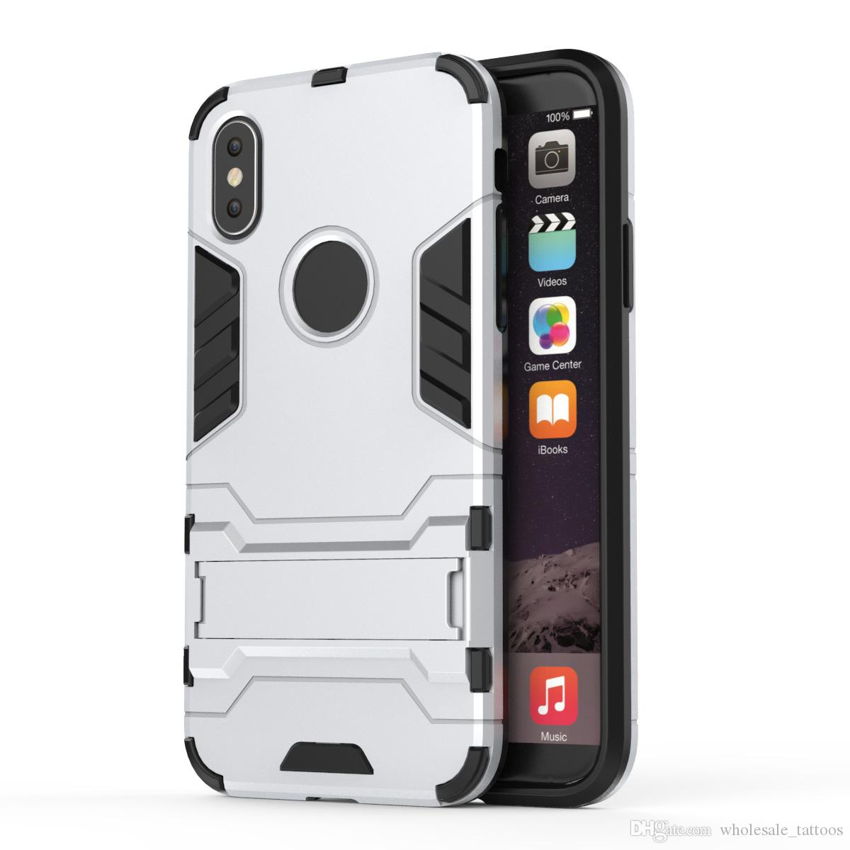 size 40 798bb 4fea0 Iron Man 2in1 Hybrid Armor Cover Case With Kickstand For ZTE Blade Spark  Z971 Grand X4 Z956 LG Q6 Stylo 2 Stylus 2 LS775 Stylo 2 Plus MS550
