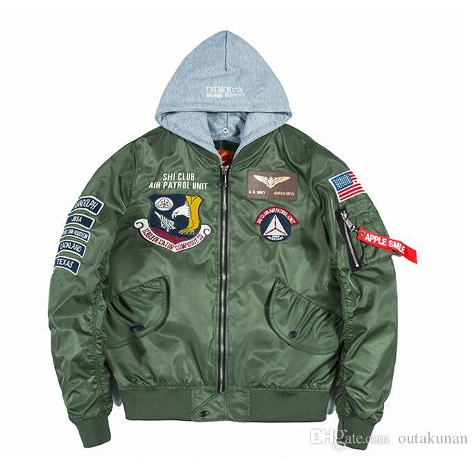 Acheter Style Designer Hommes Impression Vestes Chinois Bomber Grues zzSqxr1