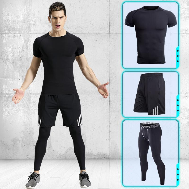 Summer Quick Dry Running Pants Men Sport Tracksuit Pants Men Running Clothes Sport Running T Shirt Mens Workout Leggings Fitness & Body Building Pens, Pencils & Writing Supplies