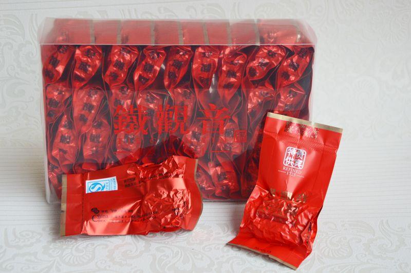 chá chinês Anxi Tieguanyin promoção 250g 2020 alto grau oolong China Fujian Tie Guan Yin chá Tikuanyin de saúde 32 sacos pequenos