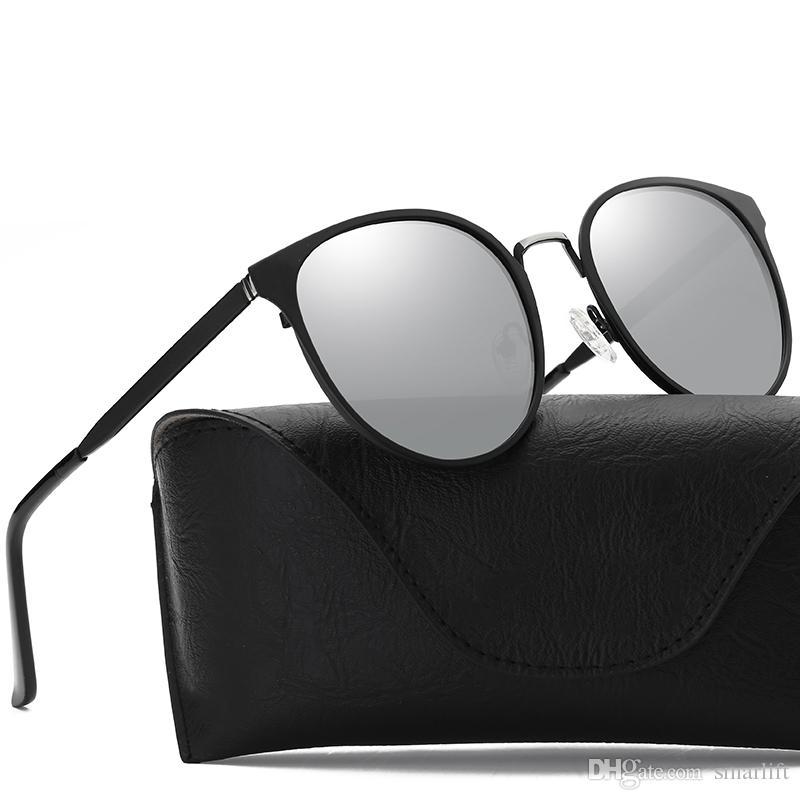 2d903d8710 2018 Outdoor Polarizing Sunglasses Round Metal Square Frame Glass UV400  Style High Quality European Fashion SPORTS Model Cool Sunglasses Custom  Sunglasses ...