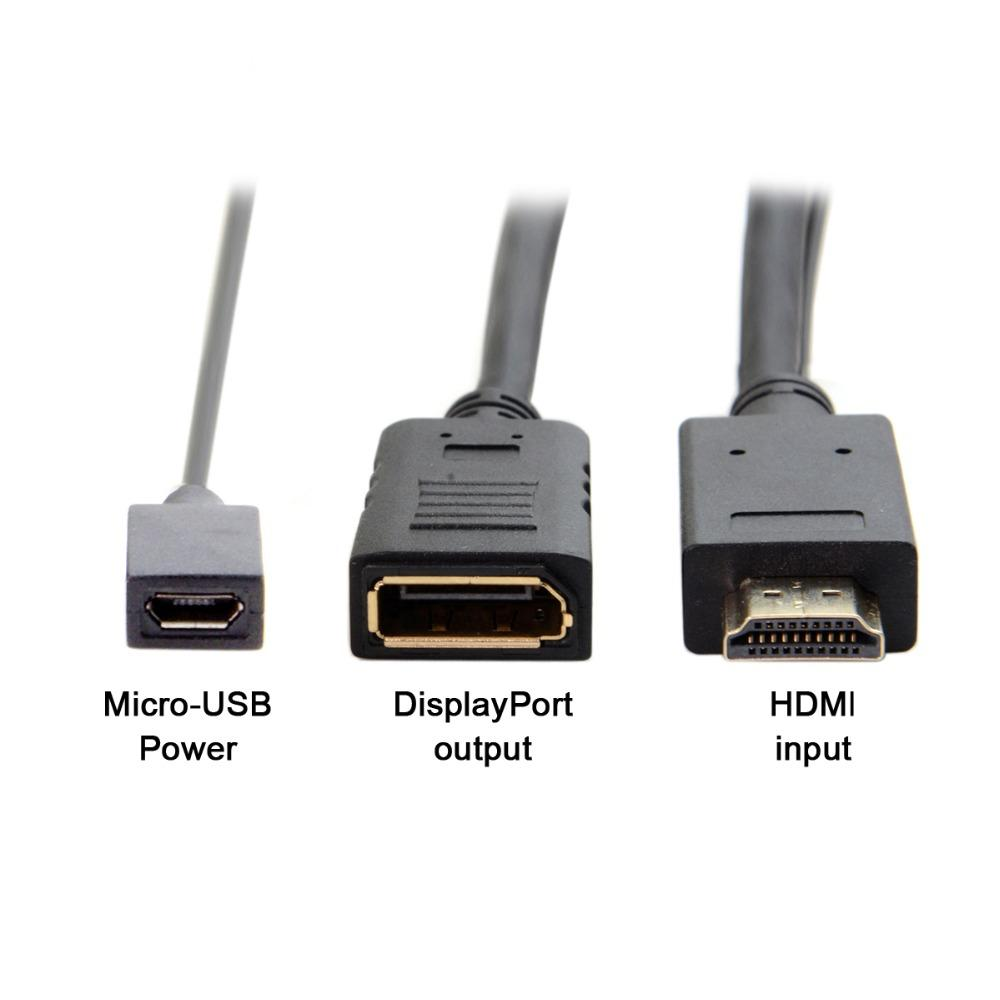 20cm HDMI Source to Female Display Port DisplayPort DP Sink 4K 2K Video  converter adapter Cable for PC Laptop Monitor