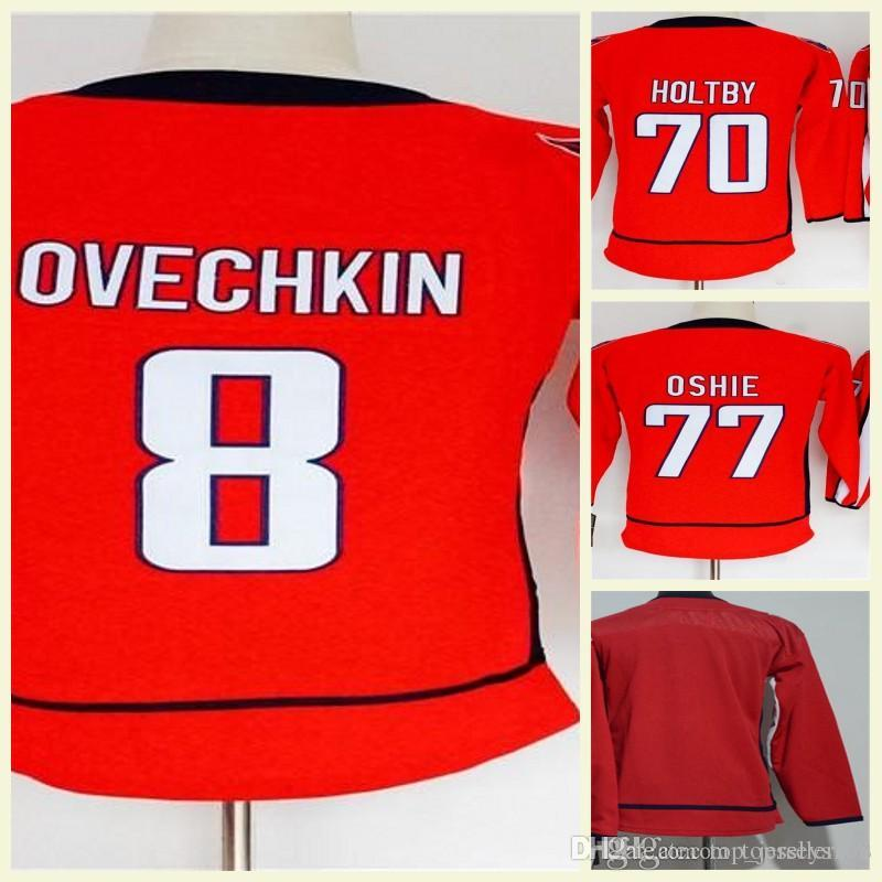 a4fea81d25f 2019 2018 Stanley Cup Final Champion Washington Capitals Hockey Lady Youth 8  Alex Ovechkin 77 T.J. Oshie 70 Braden Holtby Hockey Jerseys Home From ...