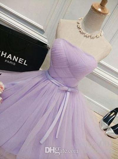 Real Sample Purple tulle new Fashionable sexy short party dresses 2018 custom made prom dresses simple lace up cocktail dress party wear