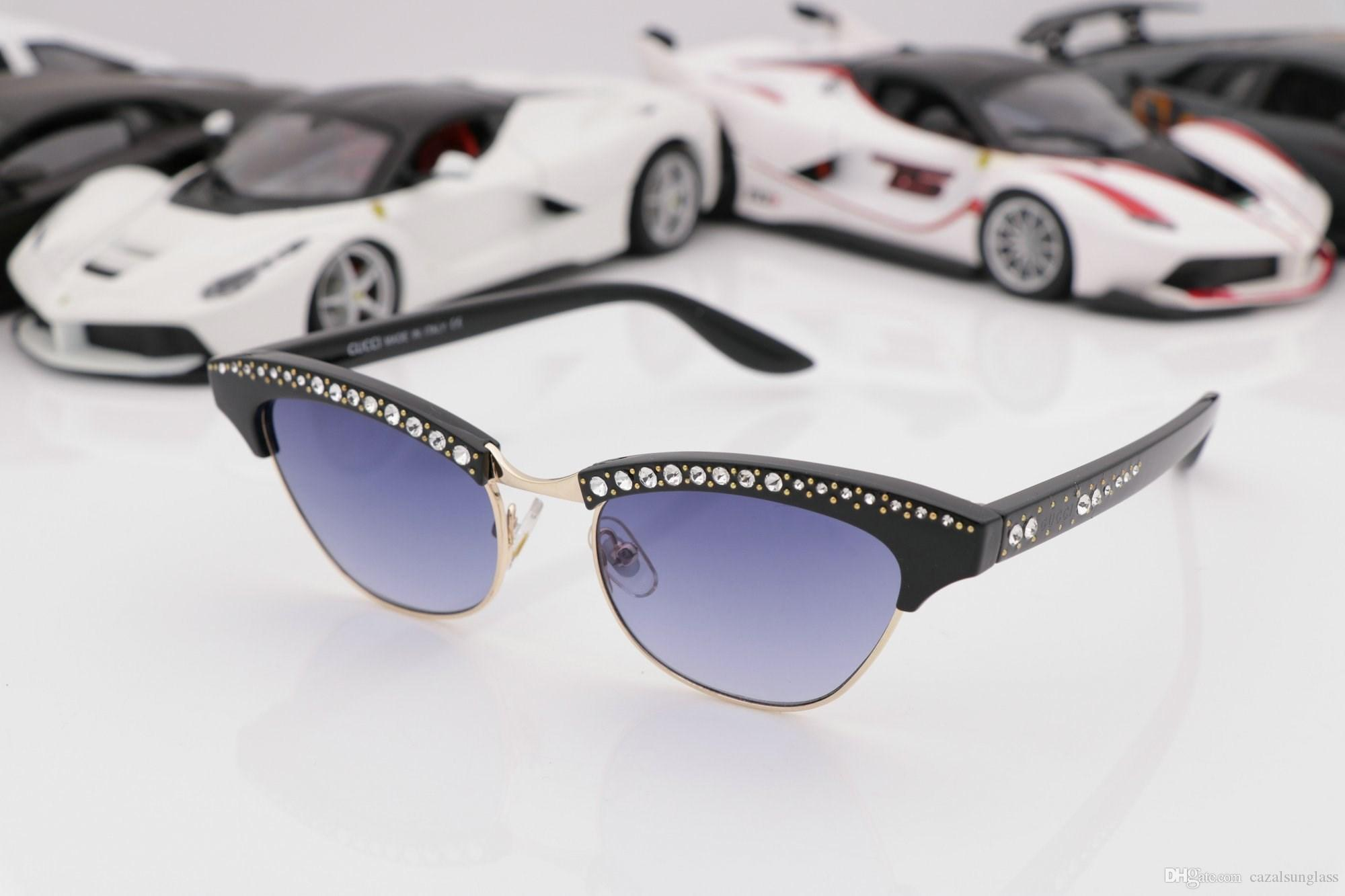 a7c4c9c37a3 0153S Sunglasses Black Acetate Diamond With Popular Design Frame Popular UV  Protection Sunglasses Top Quality Fashion Summer Style With Box Round  Sunglasses ...