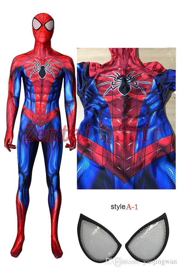 Newest Spiderman Costume 3d Printed Lycra Spandex Spider Man Superhero Costume Halloween Fullbody Zentai Suit For Kids/Adult/Custom Made Themed Party ...  sc 1 st  DHgate.com & Newest Spiderman Costume 3d Printed Lycra Spandex Spider Man ...