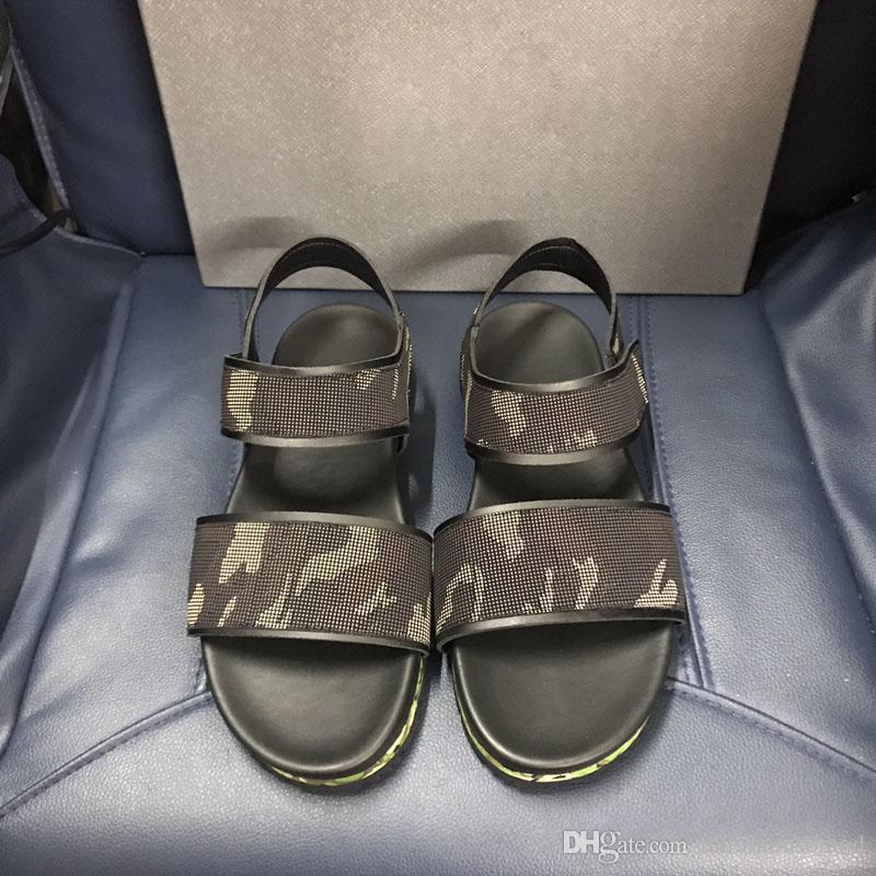 Acheter Pas Cher De Luxe Italie Marque Sandales Pour Hommes En Cuir  Véritable Sandales De Haute Qualité En Cuir Mâle Flip Sandales Hommes  Chaussures Eu38 45 ... eb65c8d5d70