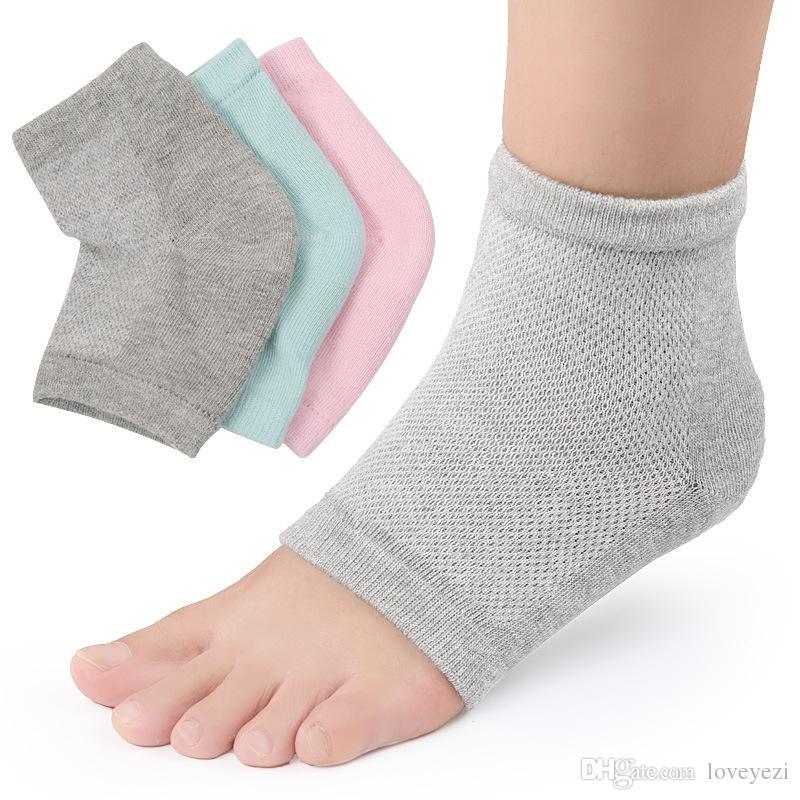 Unisex Gel Heel Socks For Pedicure Moisturizes Cracked Dry Heels