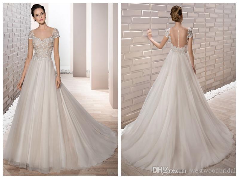 compre 2018 vestidos de novia robe de mariée demetrios 673 vestidos