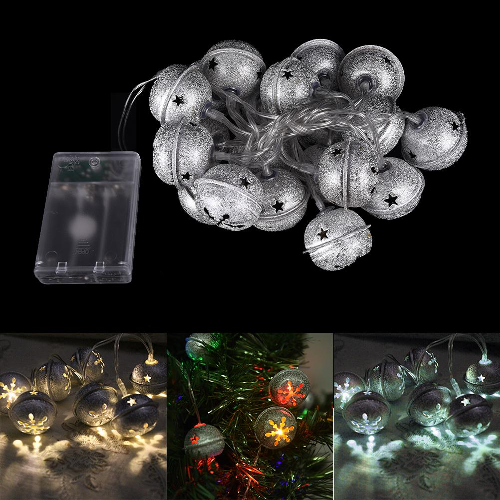 wholesale heltc outdoor lighting led bells string lamps warm whitewhite christmas lights fairy wedding garden pendant garland string of lights string light