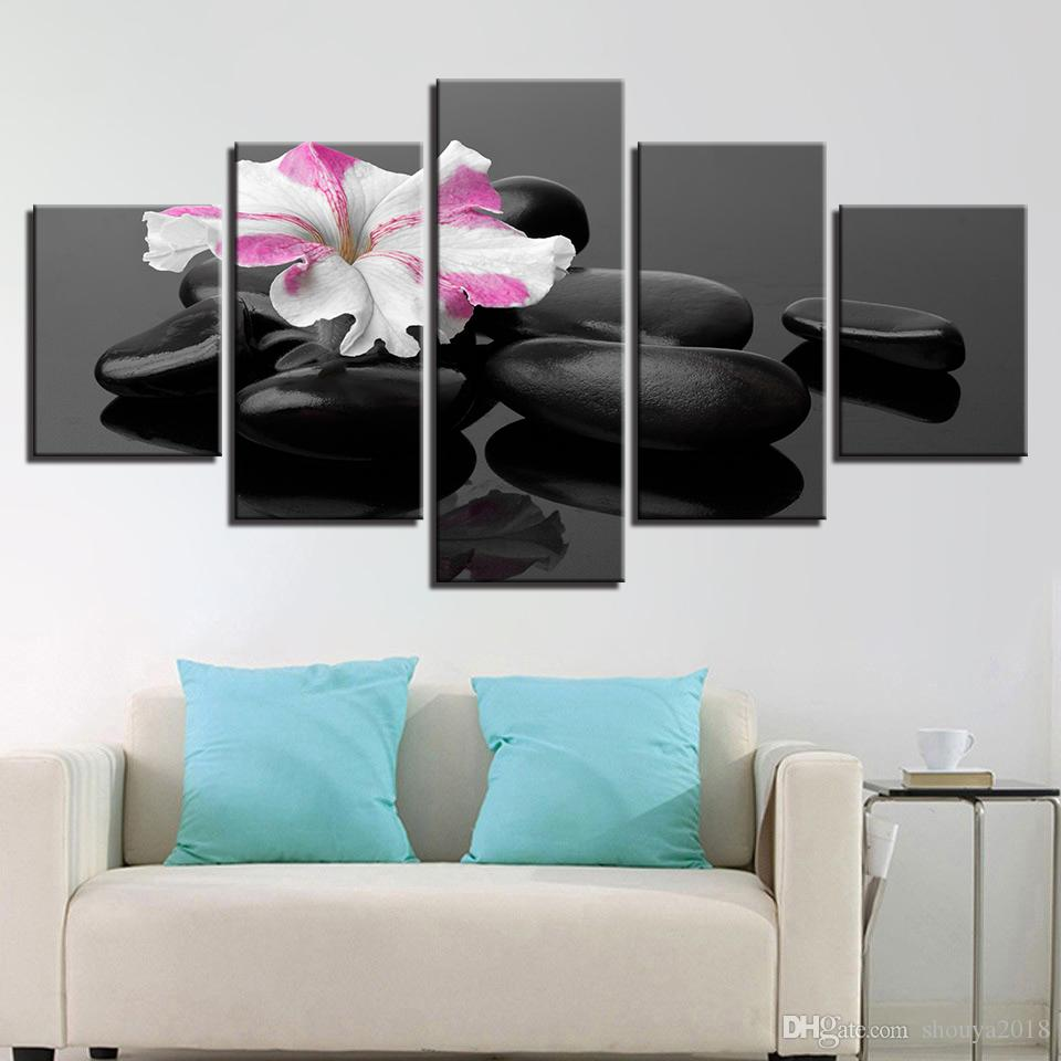 Modular Pictures Room Wall Art Purple Hyacinth Flower Canvas Paintings Home Decor HD Prints LOVE Frame Poster