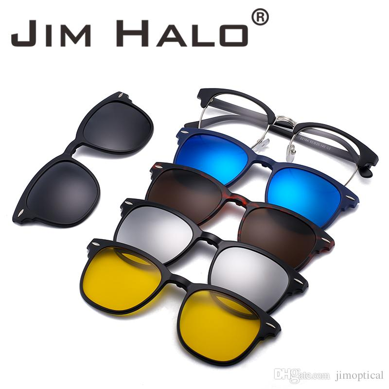 197316e3d3 Jim Halo Magnetic Lens Shades Polarized Clip On Sunglasses Plastic Frame  For Night Driving Sun Glasses 3 Styles Vintage Sunglasses Super Sunglasses  From ...