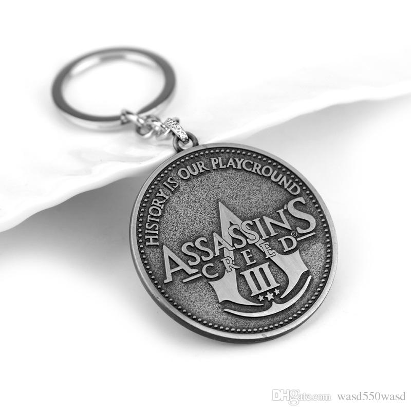Assassin's Creed Key Chain Assassins Creed Key Rings For Gift Chaveiro Car Keychain Jewelry Game Key Holder Souvenir