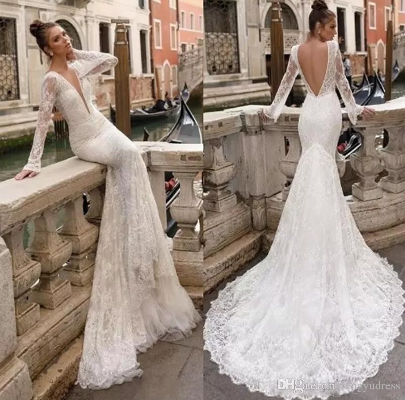 compre escote en v profundo vestidos de novia vestidos de boda de