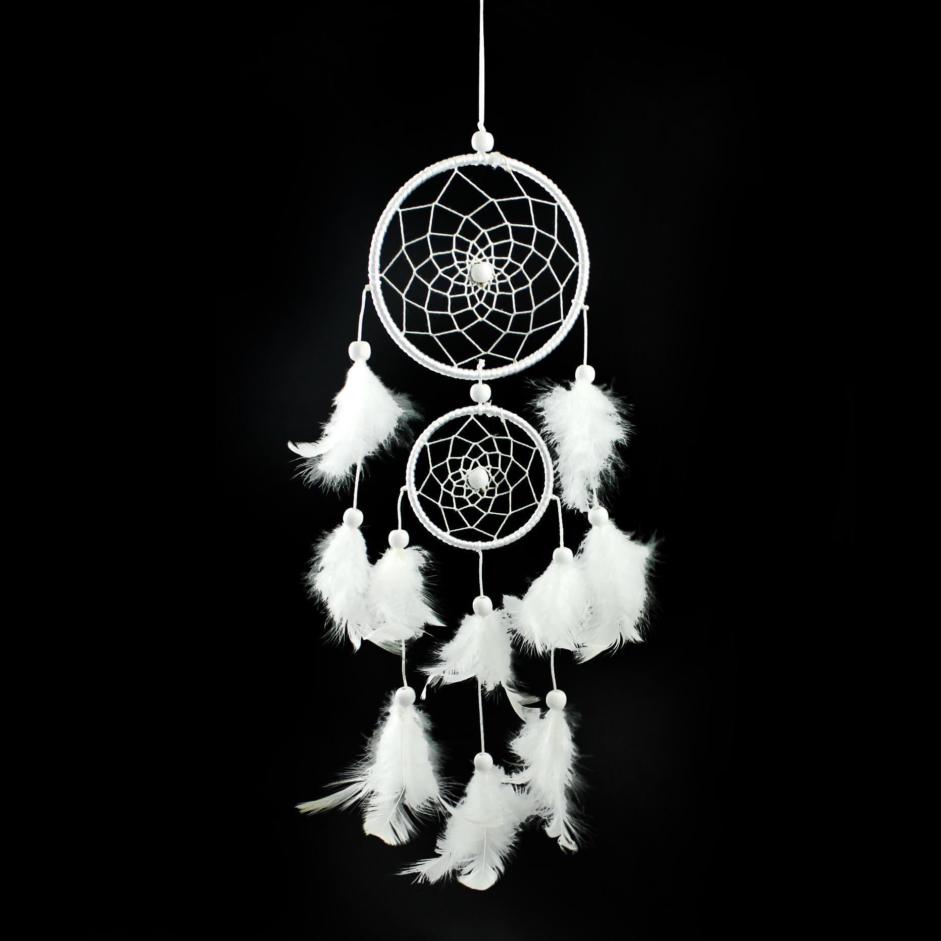 Белый ловец снов украшения дома вешалки перо ловец снов whosale