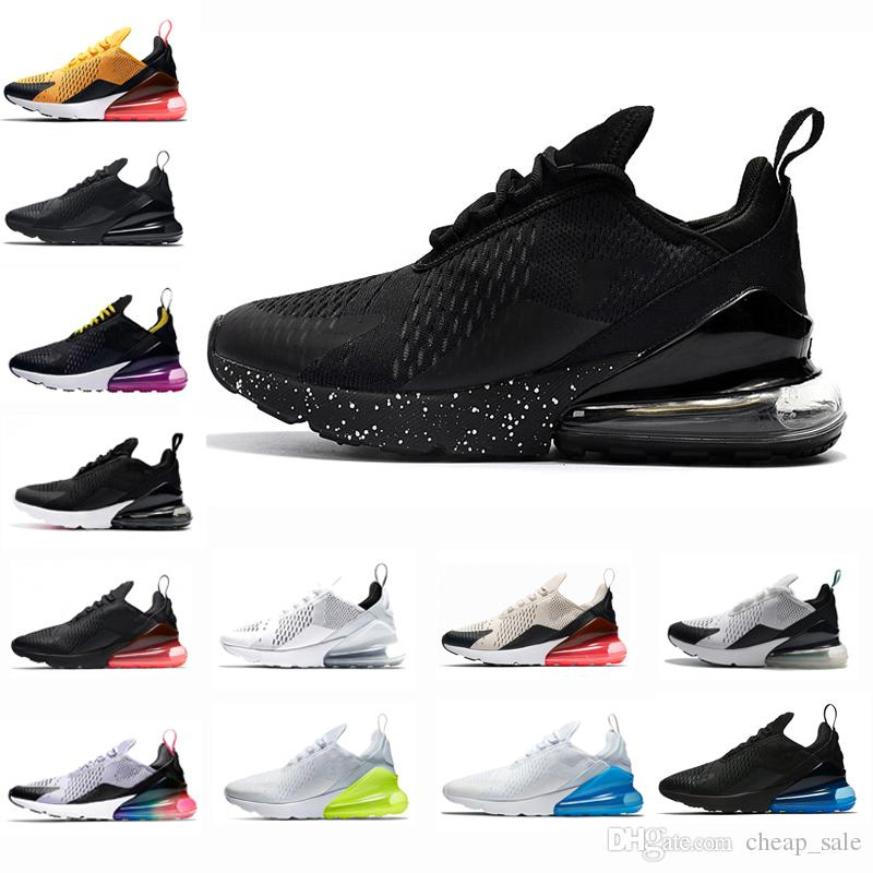 pretty nice 26a1b 493f6 Compre Nike Air Max 270 Clásico Negro Hombres Zapatillas Foto Azul Hot  Punch Light Bone Hombres Entrenadores Deportivos Hot Punch Teal Blanco Volt  Athletic ...
