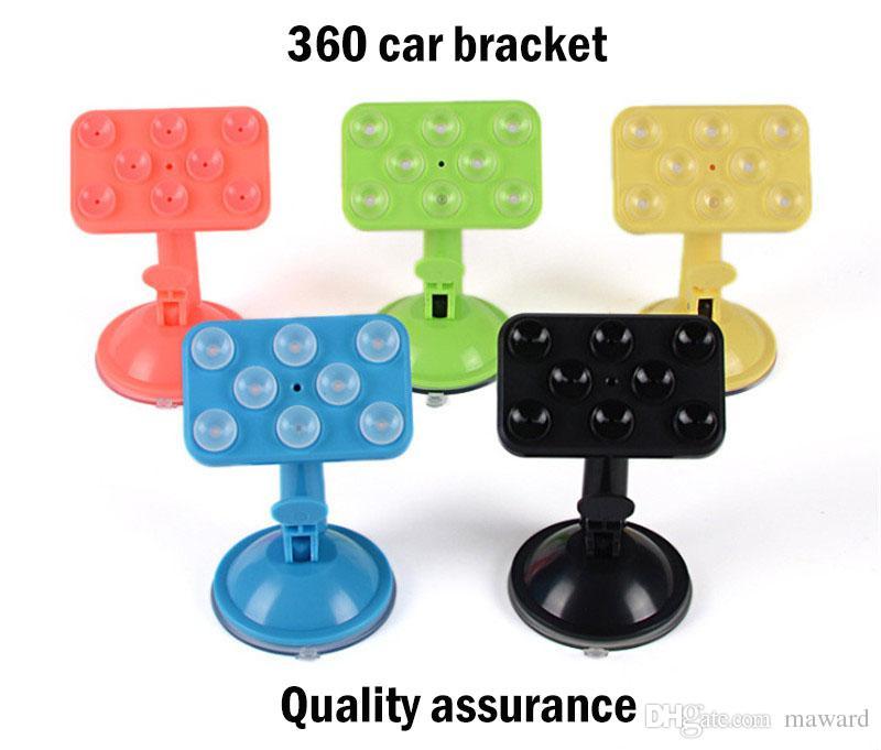 Hot sale Phone lazy support 8-point suction cup car phone holder car navigation creative desktop sucker