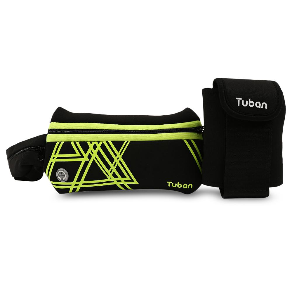 f2ebfde85e06 Tuban Outdoor Running Fitness Kettle Waist Bag Sports Pocket Zipper does  not drop paint, elastic fabric is not easily deformed
