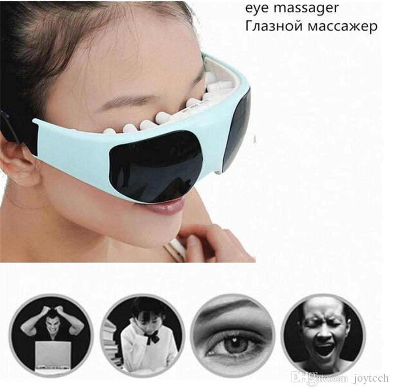Cuidados Com Os Olhos Elétrico Relaxar Massageador 1 Conjunto Ímã de Vibração Terapia Aliviar Acupressure Eye Massager DHL frete grátis