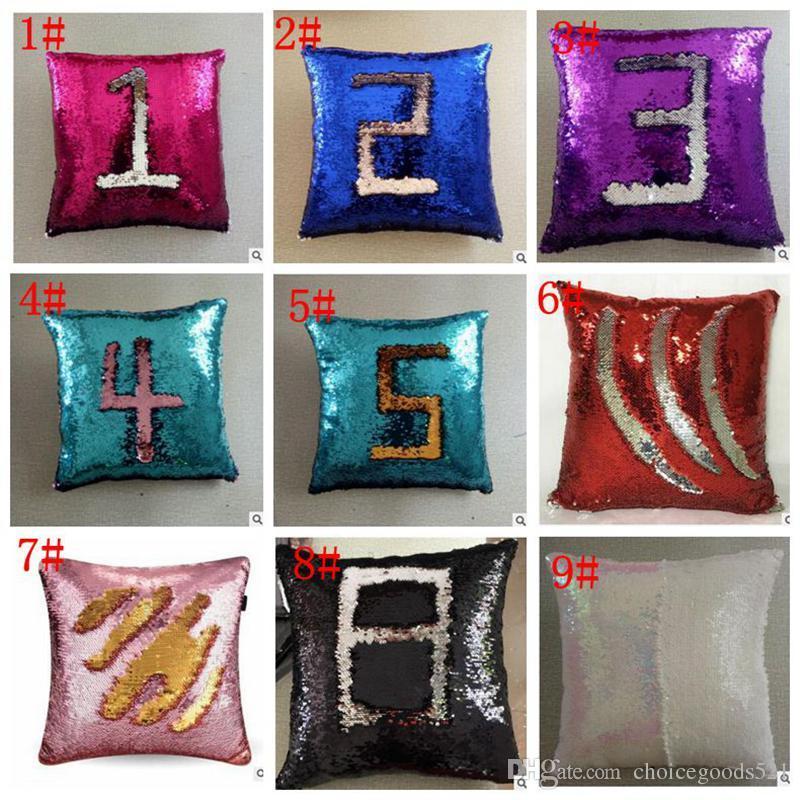 Sequin Pillow Case Cover Mermaid Pillow Cover Glitter Reversible