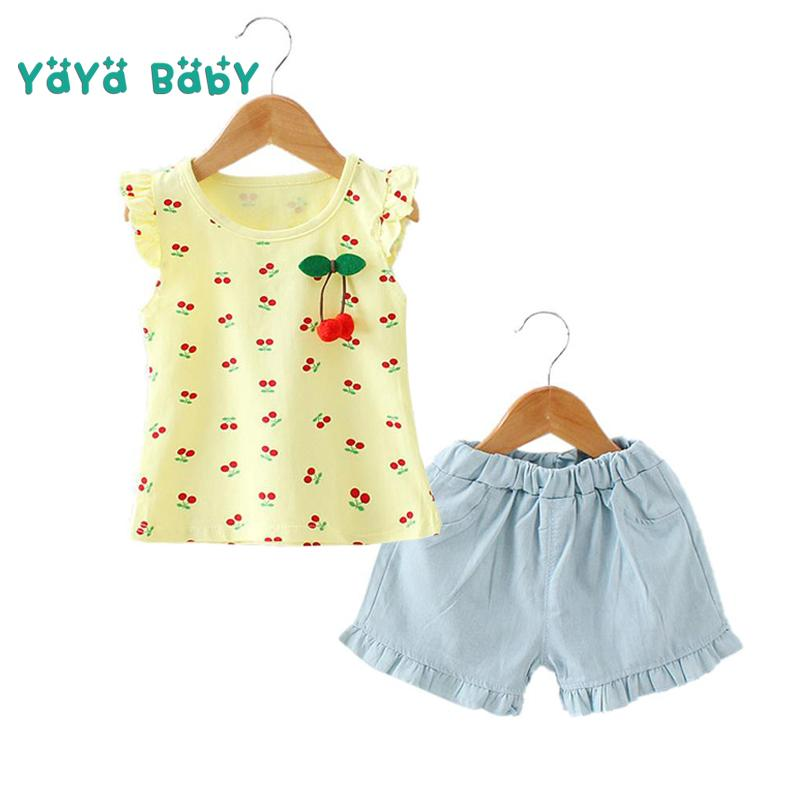 62093283310 2019 2 3 4 5 Year Baby Girls Clothes 2018 New Casual Coon Children Clothing  Set T Shirts Shorts Summer Kids Suits For Girls From Xunqian