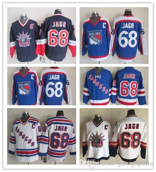 90f832269 Jaromir Jagr New York Rangers Hockey Jerseys CCM Vintage NYR 68 Jaromir Jagr  Stitched Jerseys Cheap Patch Mens Jaromir Jagr Jaromir Jagr Jerseys Glenn  Hall ...