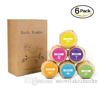 *60G bubble bath ball set whitening and nourishing bath salt 100% organic contains natural essential oil