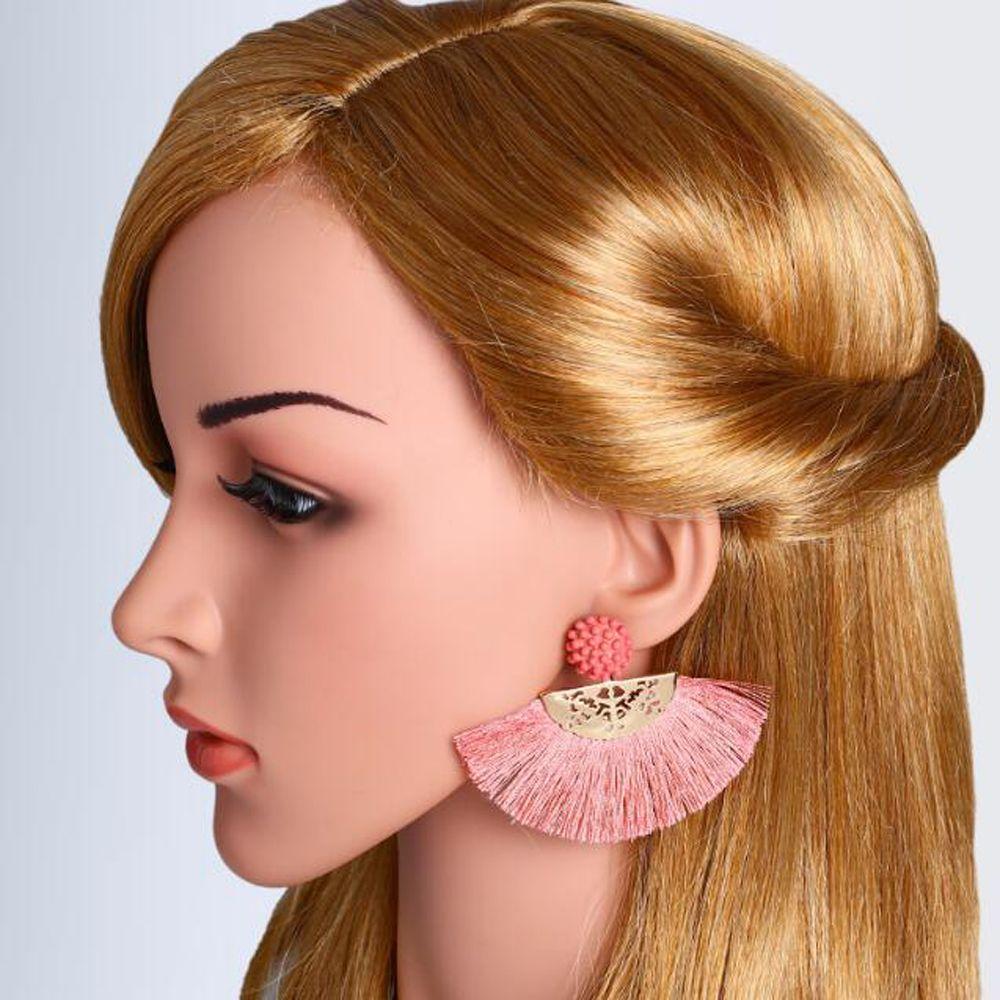 Tassel Earrings For Women Summer Fringe Earings Fashion Jewelry Statement Bohemian Flower Wedding Brincos Hanging Earring
