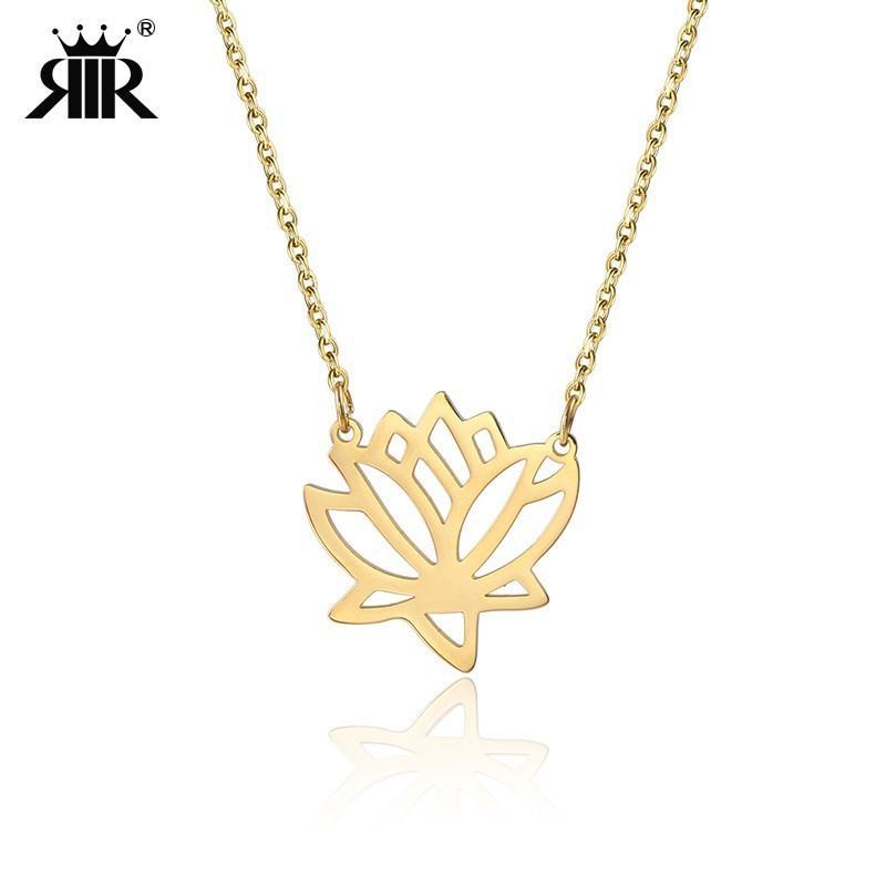 Grosshandel Rir Inspirierende Lotus Flower Halskette Yoga Schmuck