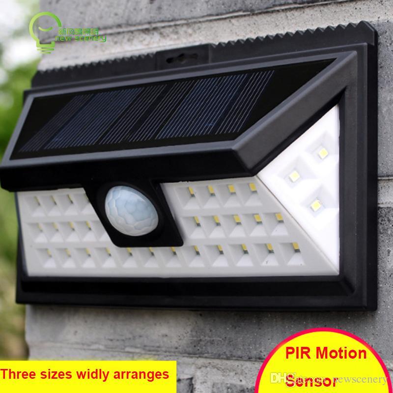cheaper d4761 87806 24led 36led 48led 54led SOLAR MOTION SENSOR LIGHT SOLAR POWERED LED PIR  HUMAN INDUCTUON GARDEN LIGHT