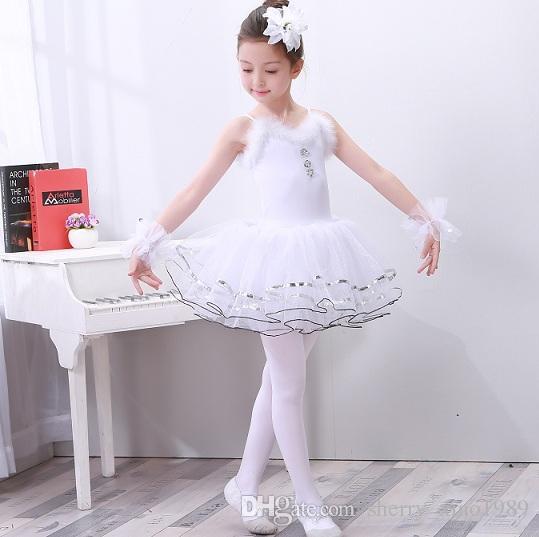 dd7d25cf7e0d1 Satın Al Profesyonel Beyaz Kuğu Gölü Balerin Balerin Elbise Tutu Kostüm Kız Çocuk  Çocuklar Için Bale Dans Elbise Bale Dans Elbise Kız 001, $25.11 | DHgate.
