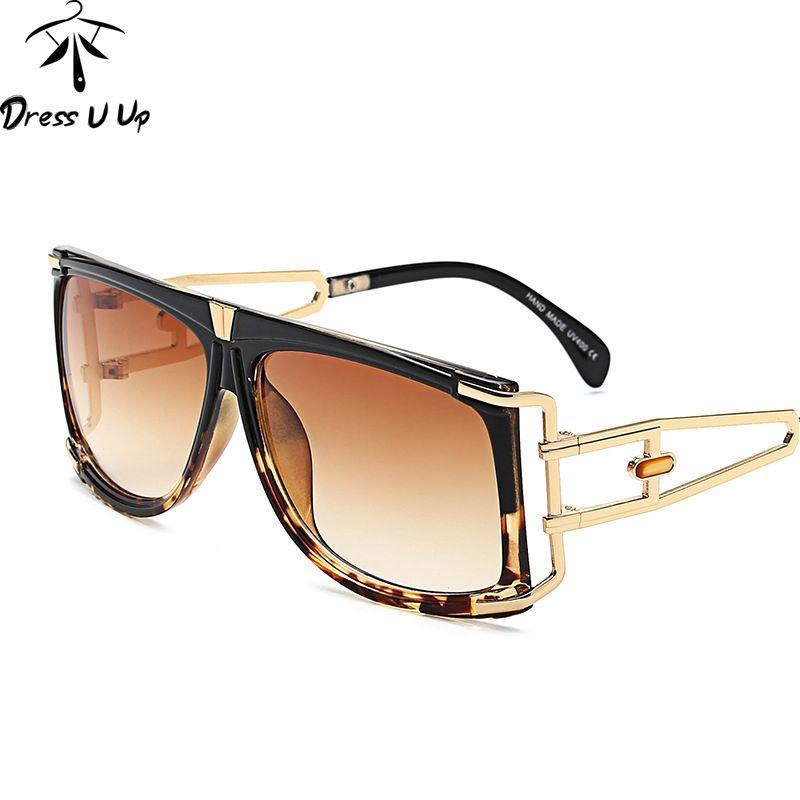 8703c2f320 Dressuup Luxury Square Women Sunglasses Brand Designer Big Frame ...