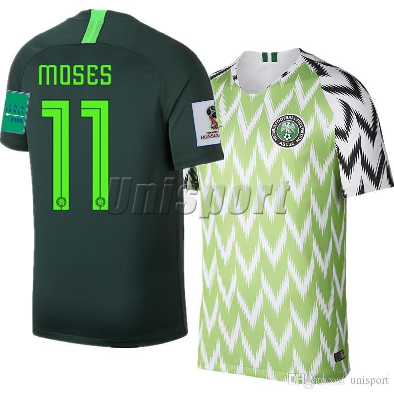 b3c014ab2 2019 World Cup 2018 Iwobi Home Away Men Soccer Jerseys Iheanacho Musa  Futbol Camisa National Camisetas Shirt Kit Maillot From Unisport