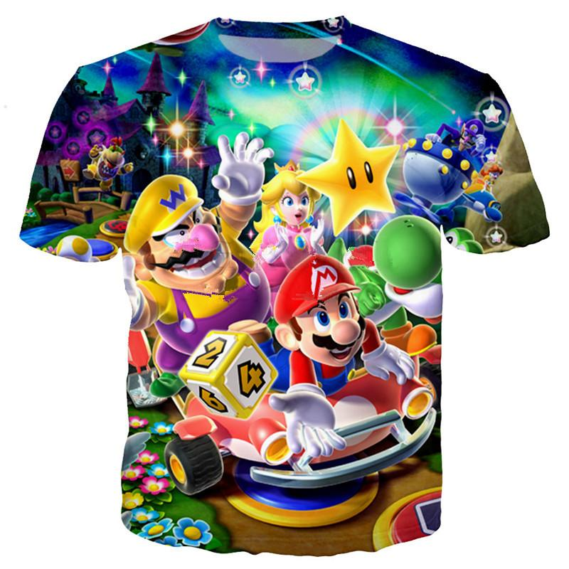abffc49c Classic Cartoon Games Super Mario Bros Women Men New Fashion Summer Unisex  Funny 3d Print Crewneck Casual T Shirt Tops Tee Q84 Buy Designer Shirts  Great ...