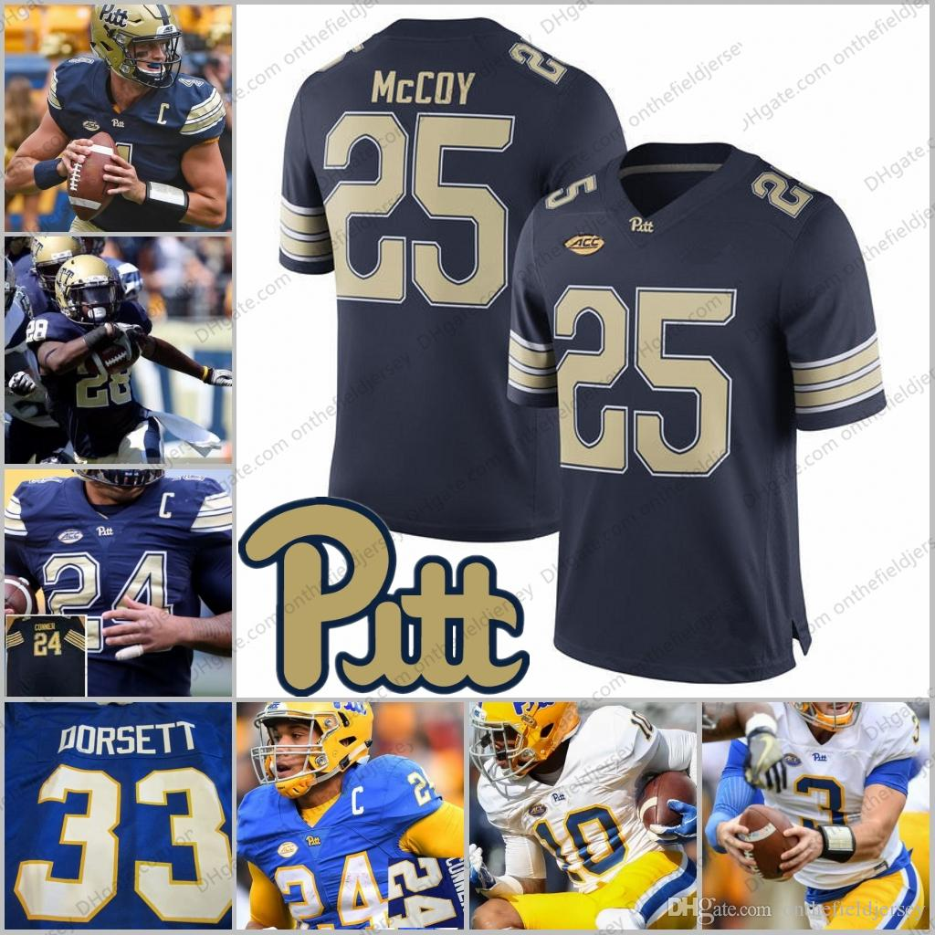 2019 Pittsburgh Panthers Pitt  25 Darrelle Revis 28 Dion Lewis 29 Curtis  Martin 33 Tony Dorsett White Blue Gold College Football Jerseys S 3XL From  ... f6856e41e