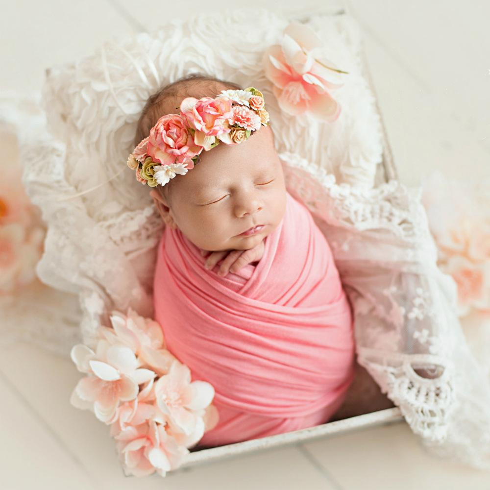 2019 50150cm extra soft stretch newborn photography wrap for photo shoots baby photo props newborn swaddle photography accessories from henryk