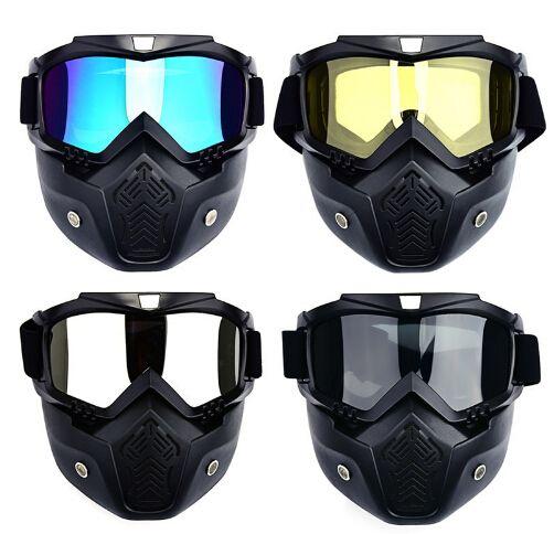9b85c2d43ea79 Compre Homens De Esqui Snowboard Máscara De Esqui De Inverno Snowmobile  Óculos À Prova De Vento Óculos De Esqui Óculos De Sol De Motocross Com  Filtro De ...